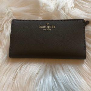 Grey Kate Spade Cameron Street Stacey wallet